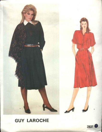 Vogue Paris Original Sewing Pattern 2837 Misses Size 10 Guy Laroche Dress Shawl