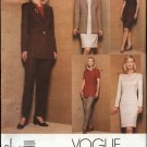 Vogue Sewing Pattern  2010 Misses Size 14 -16-18 Easy Classic Wardrobe Jacket Dress Top Skirt Pants