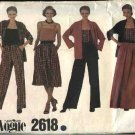 Vogue Sewing Pattern 2618 Misses size 10 Easy Wardrobe Skirt Jacket Camisole Pants