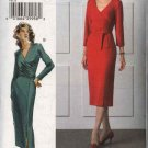 Vogue Woman Sewing Pattern 8111 Misses Size 18-20-22 Easy Fitted Straight Mock Wrap Dress Belt
