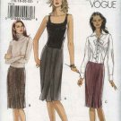 Vogue Sewing Pattern 8126 Misses Size 8-10-12-14 Easy Straight Pleated Topstitched Skirt