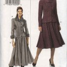 Vogue Woman Sewing Pattern 8169 Misses Size 14-16-18 Easy  Jacket Skirt Suit