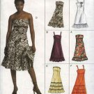 Vogue Sewing Pattern 8185 Misses Sizes 12-14-16 Easy Ruffled Strapless Summer Dress