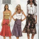 Vogue Sewing Pattern 8200 Misses Size 12-14-16 Easy Flared Drape Waist Skirt