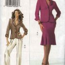 Vogue Woman Sewing Pattern 8207 Misses Size 8-10-12 Easy Jacket Skirt Pants Suit Pantsuit