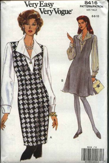 Vogue Sewing Pattern 8416 Misses Size 6-8-10 Easy Jumper Blouse Top