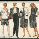 Vogue Sewing Pattern 8617 Misses Size 8-10-12 Wardrobe Jacket Skirt Pants Shorts Top