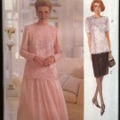 Vogue Woman Sewing Pattern 8635 Misses Size 8-12 Easy Formal Top Skirt Two-Piece Dress