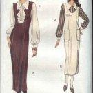 Vogue Sewing Pattern 8748 Misses Size 6-8-10 Easy Jumper Blouse Jabot