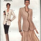 Vogue Sewing Pattern 8851 Misses Size 6-8-10 Easy Top Jacket Skirt Two-Piece Dress