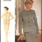 Vogue Woman Sewing Pattern 9285 Misses Size 8-12 Easy Top Skirt Jacket Suit Peplum