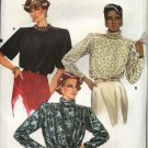 Retro Vogue Sewing Pattern 9445 Misses Size 8-12 Easy Blouses Tops