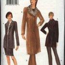 Vogue Sewing Pattern 9907 Misses size 8-10-12 Jacket Skirt Pants Coats Collar Suit Pantsuit