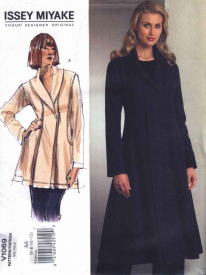 Vogue Sewing Pattern 1069 Misses Size 6-12 Issey Miyake Lined Jacket Coat