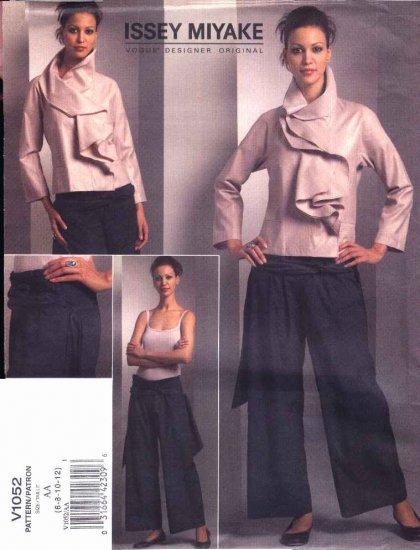 Vogue Sewing Pattern 1052 V1052 Misses Size 6-12 Issey Miyake Designer Original Jacket Pants