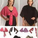 Simplicity Sewing Pattern 0532 Misses Size 4-6-8-10-12 Easy Shrug Poncho Capelet Wrap