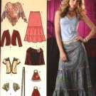 Simplicity Sewing Pattern 0594 Misses Size 6-14 Boho Wardrobe Skirt Jacket Shrug Poncho Scarf Bag