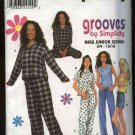 Simplicity Sewing Pattern 0672 Junior sizes 11/12-15/16 Pajamas Tops Pants Shirt