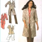 Simplicity Sewing Pattern 4198 Womans Plus Size 18W-24W Wardrobe Shirtdress Pants Shorts Skirt