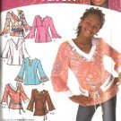 Simplicity Sewing Pattern 4301 Girls Size 8-16  Tunic Pullover Top Belt That's So Raven