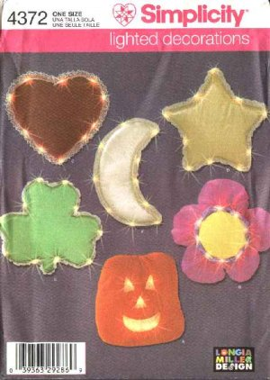 Simplicity Sewing Pattern 4372 Lighted Holiday Home Decorations Christmas Valentine&#039;s Day