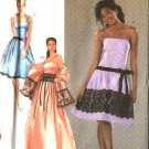 Simplicity Sewing Pattern 4399 Misses Size 12-20 Formal Dress Evening Gown Wrap Jessica McClintock
