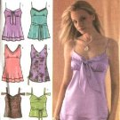 Simplicity Pattern 4417 Misses Size 10-12-14-16-18 Raised Waist Summer Tops
