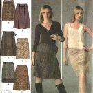 Simplicity Sewing Pattern 4422 Misses Size 8-10-12-14-16 Straight Flared Mock Front Wrap Skirts