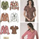 Simplicity Sewing Pattern 4487 Misses Size 8-16 Easy Button Front Shirts Blouse Tops