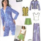 Simplicity Sewing Pattern 4507 Junior Size 11/12-15/16 Wardrobe Top Jacket Skirt Pants Vest Tote Bag