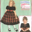 Simplicity Sewing Pattern 4513 Girls Size 3-6 Daisy Kingdom Dress Capelet