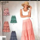 Simplicity Sewing Pattern 4549 Misses Size 6-8-10-12-14-16 Tiered Yoke Peasant Boho Skirts
