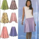 Simplicity Sewing Pattern 4592 Misses Size 6-12 Flared Seamed Skirts