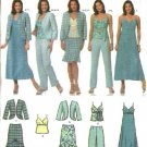 Simplicity Sewing Pattern 4638 Misses Size 6-12 Easy Wardrobe Dress Top Skirt Pants Jacket
