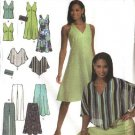 Simplicity Sewing Pattern 4640 Misses Size 4-10 Wardrobe Dress Top Skirt Pants Purse Poncho