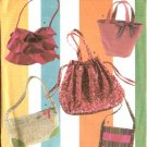Simplicity Sewing Pattern 4673 Five  Bags Totes Totebags Purse Handbags Pocketbooks