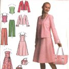 Simplicity Sewing Pattern 4694 Misses Size 6-12 Easy Wardrobe Sundress Jacket Top Pants Bag