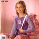 Simplicity Sewing Pattern 4761 Girls Size 8-16 Knit Top Pants Bag Pajamas