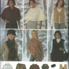 Simplicity Sewing Pattern 4781 Misses Size 6-16 Ponchos Vest Scarf Head Band Bag