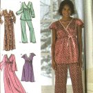 Simplicity Sewing Pattern 4794 0542 Misses Size 18-24 Easy Nightgown Pajamas Robe Top Pants