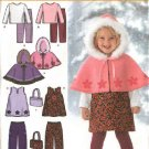 Simplicity Sewing Pattern 4809 Toddler Girls Size ½-4 Wardrobe Jumper Pants Capelet Top Purse
