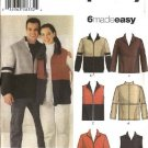 "Simplicity Sewing Pattern 4830 Misses Mens Size XS-XL Chest Size 30-48""  Easy Jacket Vest Top"
