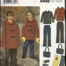 Simplicity Sewing Pattern 4837 Girls Size 7-14 Easy Hooded Duffle Jacket Pants Purse Scarf Mittens
