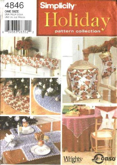Simplicity Sewing Pattern 4846 Holiday Home Decorations Christmas Winter