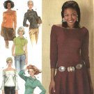 Simplicity Sewing Pattern 4878 Misses Size 8-10-12-14 Easy  Knit Tops Collar Sleeve Variations