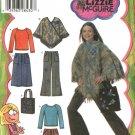 Simplicity Sewing Pattern 4897 Girls Plus Size 8½-16½ Wardrobe Skirt Pants Knit Top Poncho Purse