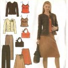 Simplicity Sewing Pattern 4951 Misses Size 12-20 Easy Wardrobe Skirt Top Jacket Pants Camisole Purse