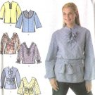 Simplicity Sewing Pattern 4960 Misses Size 8-10-12-14 Pullover Tops Tunics Sash