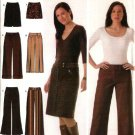 Simplicity Sewing Pattern 4965 Misses Size 4-6-8-10 Cropped Long Pants Straight Skirt Mini-skirt