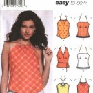 Simplicity Sewing Pattern 5057 Misses Size 4-6-8-10 Easy Halter Summer Tops